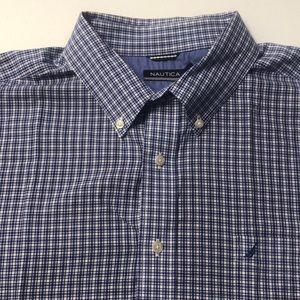 NAUTICA Mens 2XL Blue Oxford Cotton Dress Shirt